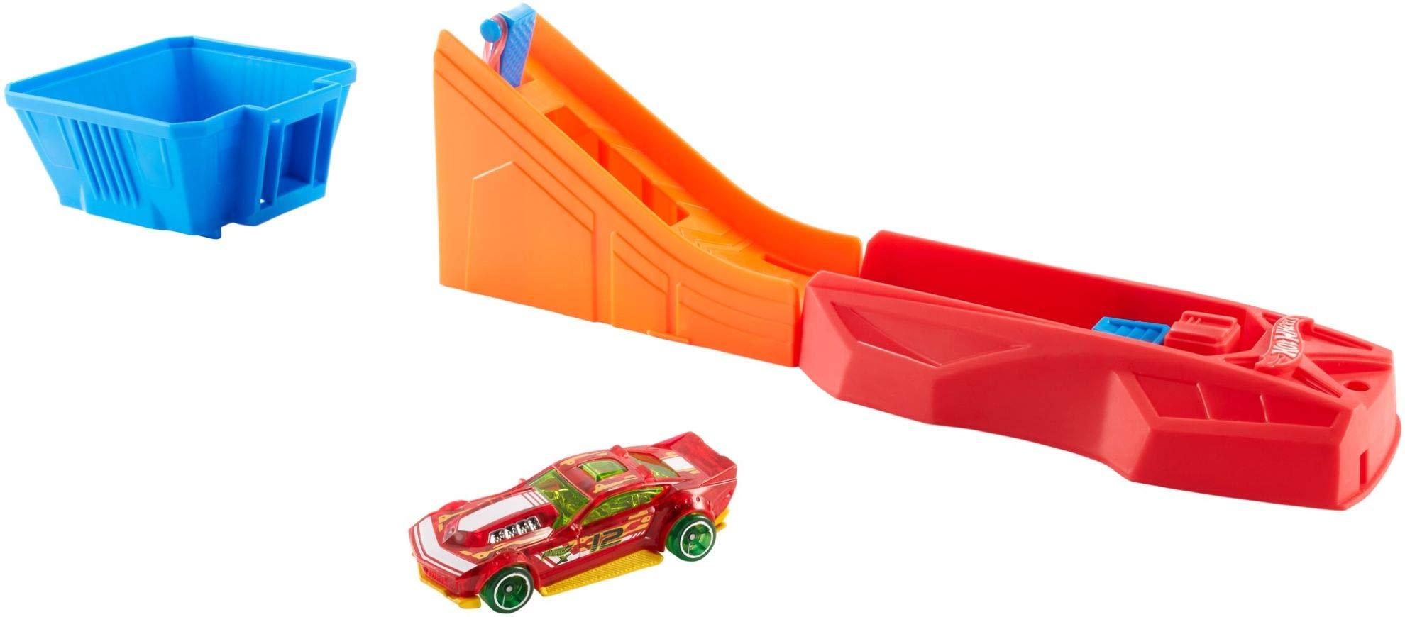 Hot Wheels Lanzacoches destripador, lanzadora de coches de juguete (Mattel FTH83) , color/modelo surtido: Amazon.es: Juguetes y juegos