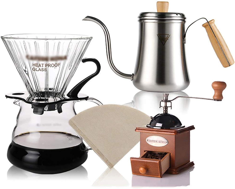 descuento online SCJS SCJS SCJS Pour Over Coffee Maker Brewer Set Cafetera de Goteo Jarra Cafetera de Goteo Manual Máquina de café de Goteo 6 Estilos (Color  A1)  Los mejores precios y los estilos más frescos.