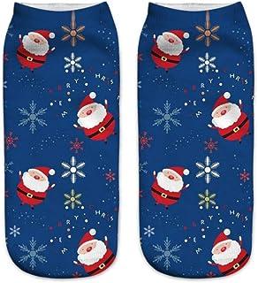 Calcetines Tobilleros 3D De Navidad 3D Para Mujer Calcetines Unisex De Dibujos Animados Elk Snowman Santa Calcetines Calcetines De Navidad De Tobillo De Corte Bajo Para Mujer
