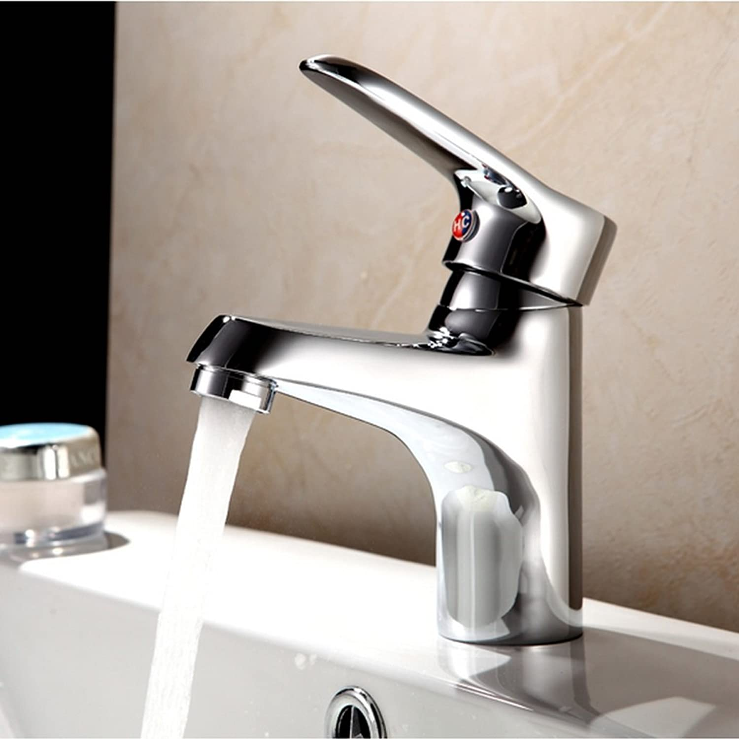 MEILING Basin Faucet Hot And Cold Single Hole Copper Table Pot Wash Basin Wash Basin Bathroom Cabinet Faucet