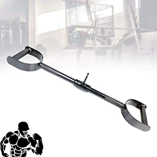 Economy Rowing Machine Handle, Solid Lat Pull Down Bar Handle Attachment for Cable Machine, Wide & Narrow Grip for Strong ...
