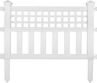 Suncast GVF24 Grand View Fence, White