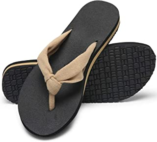 MAIITRIP Womens Wide Comfortable Cloth Strap Flip Flops with Arch Support