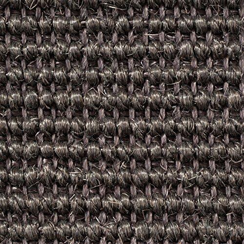 Teppichboden Auslegware | Sisal Naturfaser Schlinge | 400 cm Breite | grau anthrazit | Meterware, verschiedene Größen | Größe: 1 x 4m