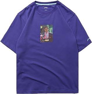 LI-NING PFW Limited Edition Mr. Li Photo Tee Regular Fit Breathable Short-Sleeve Men Sports Purple T Shirts AHSN857