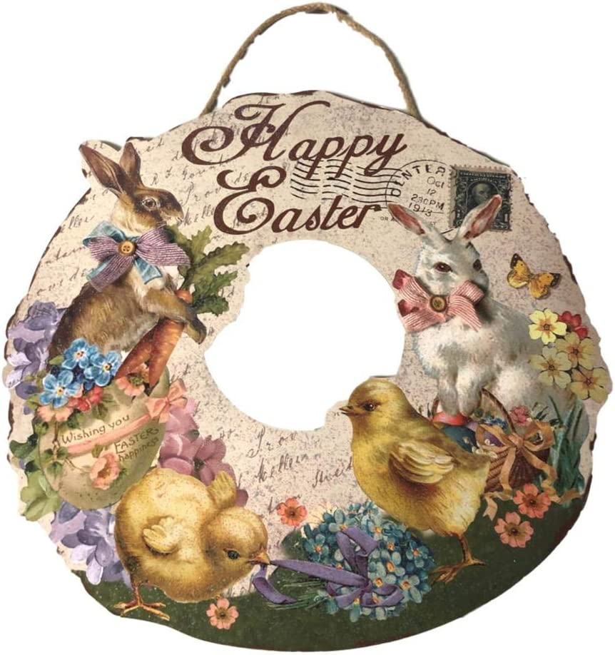 Nanucket Home Easter Retro Lowest price challenge Glittered Sales of SALE items from new works Wood 20