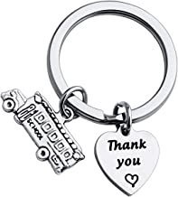 FUSTMW Thank You Gift for School Bus Driver Keychain Appreciation Gift End of The School Year Gift