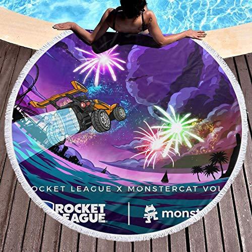 Roc-ket Lea-gue - Toalla de playa, ligera, resistente al cloro, toalla de piscina, perfecta para tumbonas, toallas de baño, playa y gimnasio