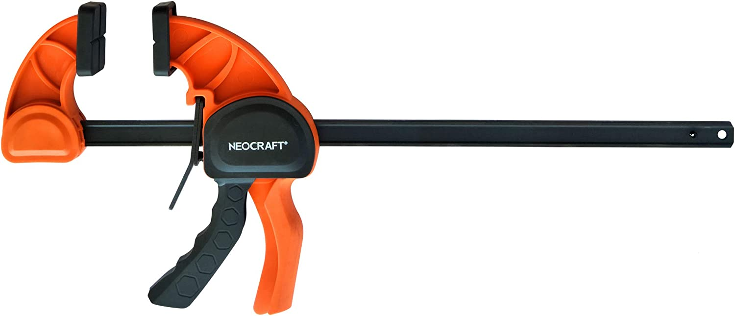 Heavy Duty Bar Clamp for Woodworking (18 inches) - Quick Grip Adjustable Handi-Clamp for Carpentry - Ratchet Bar Clamp for Furniture Assembling & Manufacturing by Neocraft