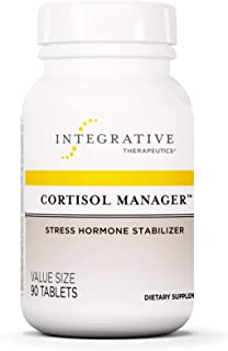 Cortisol Manager Integrative Therapeutics Sleep, Stress, and Cortisol Support Supplement, Vegan, 90 Tablets