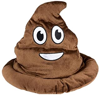 Novelty Treasures Soft Fabric Brown Emoji Poop Hat
