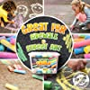 Sidewalk Chalk For Kids Bucket of 20 Pieces Great Easter Basket Stuffers Street Chalk For Kids   Bulk Sets   Sidewaalk Colored Outside Washable Set #2