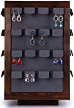 Shirleyle-HoRac Jewellery Display Stand Wooden Bracelet Holder Earring Necklace Rack Bracelet Stand for Jewelry Organization and Display for Women Girls Gifts (Color : Wood, Size : 3723cm)