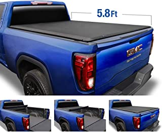 Tyger Auto T1 Roll Up Truck Tonneau Cover TG-BC1C9003 Works with 2007-2013 Chevy Silverado/GMC Sierra 1500 (Excl. 2007 Classic) | Fleetside 5.8' Bed
