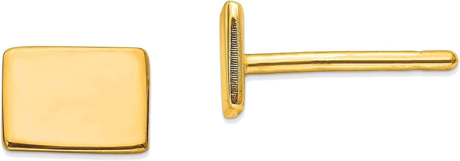 14kt Yellow Gold CO Small State Earring