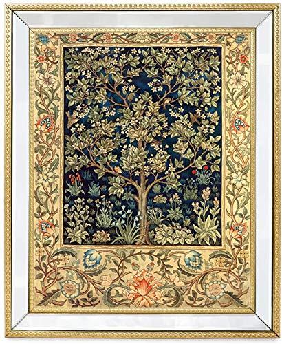 Maysurban DIY Ricamo Punto Croce Set,11CT Principianti Cucito a Mano Cross Stitch Embroidery Starter Kit per Decorazione Domestica-Albero della fortuna 35x50 cm