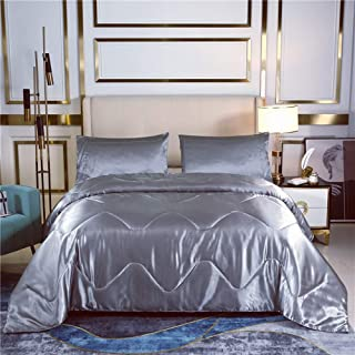 JUWENIN,Hotel Collection Luxury Soft Brushed Microfiber Duvet Cover Set - Hypoallergenic (Twin, Grey)