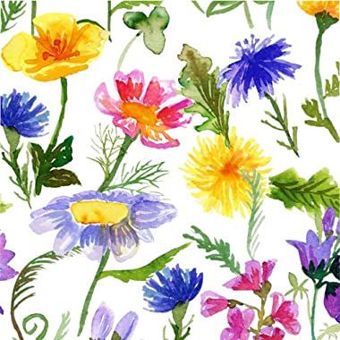Wildflowers Duvet Cover - Vintage Botanical Wildflowers - Botanicals Microfiber Duvet Cover Bedding Cream Twin