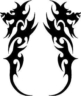 UYEDSR Pegatinas para coche, 2 unidades, diseño de dragón tribal, para coche, modelado de coche, vinilo decorativo para co...