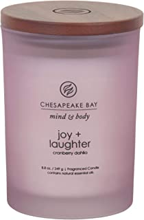 Chesapeake Bay Candle Scented Candle, Joy + Laughter (Cranberry Dahila), Medium
