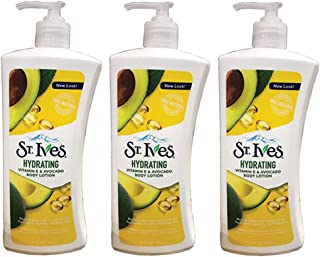 St. Ives Daily Hydrating Vitamin E & Avocado Body Lotion, 21 Ounce (Pack of 3)