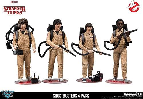 McFarlane Stranger Things - Pack 4 Figurines Ghostbusters 15 cm