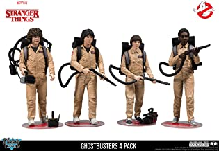 McFarlane Stranger Things - Pack de Figuras Dustin, Mike, Will & Lucas Ghostbusters 4, 15 cm