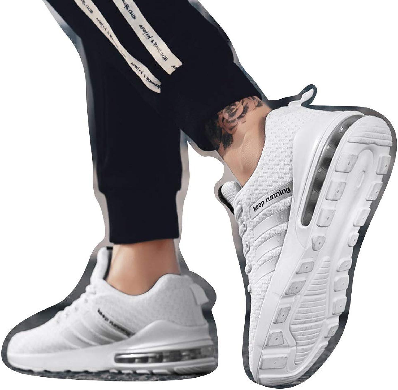 Comfortable, Wild, Large Size, Men's shoes Casual shoes, Sports shoes, Men's Running shoes, Cricket shoes (color   White, Size   44)