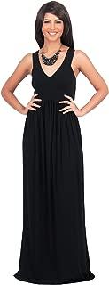 Womens Long Sleeveless V-Neck Summer Sexy Bridesmaids Gown Maxi Dress