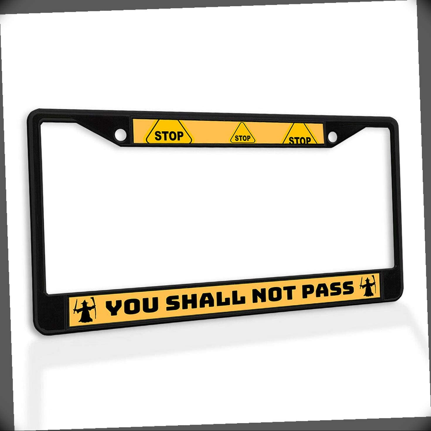 New At the price License Plate Frame You Shall Metal Pass Car Fram Not Insert Max 67% OFF