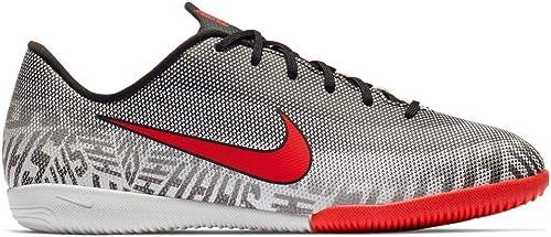 Nike Vaporx 12 Academy GS Nic, Chaussures de Football Mixte Enfant, Blanc (blanc Challenge rouge-noir 170), 37 EU