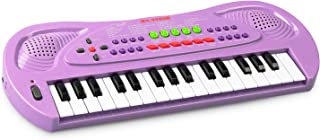 SAOCOOL Kids Piano, 32 Keys Multifunction Electronic Kids Toy Piano Keyboard Music Child Piano Keyboard for Toddler with Microphone (Purple)