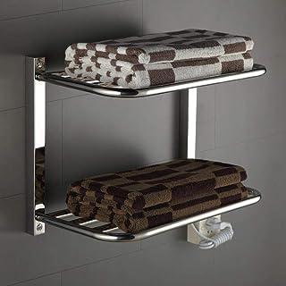 HL Calentador de toallero Recto Plano de baño de Cromo Caliente radiador Rack calefacción Central 530 * 390 * 260mm-80W