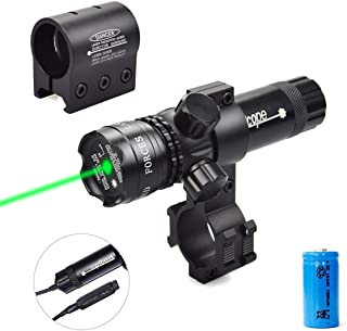 Twod Gun Sight Laser Green Dot 532nm Rifle Scope with 20mm Picatinny Mount & 1`` Ring Mount Adapter Remote Pressure Switch