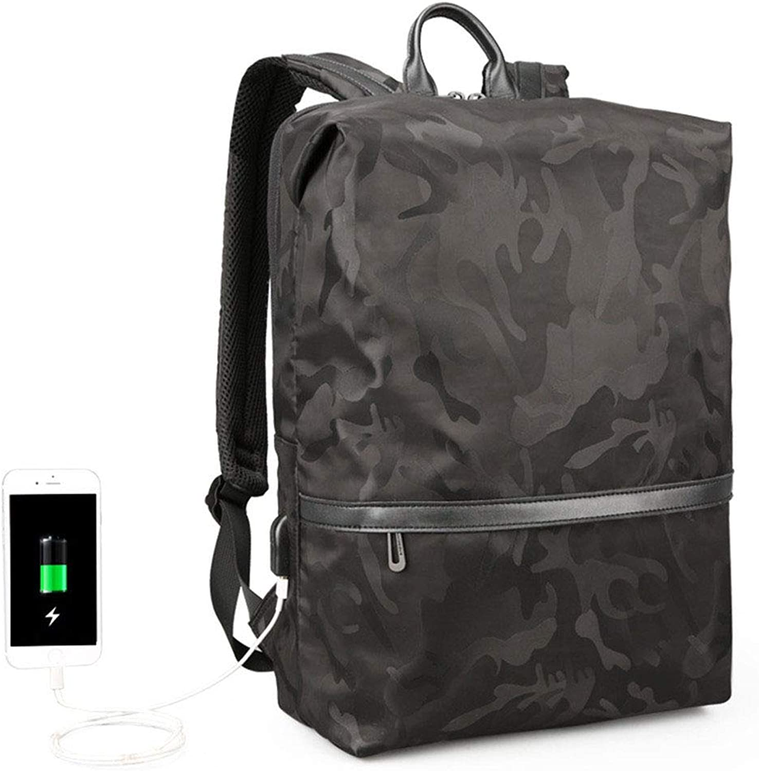 Camouflage Fashion Backpack USB Charging Multifunction Backpack Outdoor High Capacity School Bag 29  14  43cm