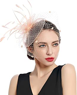 Women Fascinators Kentucky Derby Hair Clip Headband Wedding Tea Party Hat