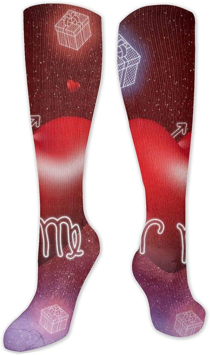 Horoscope Valentine Gift Box Knee High Socks Leg Warmer Dresses Long Boot Stockings For Womens Cosplay Daily Wear