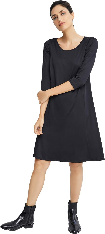 ellos Women's Plus Size Madison 3/4 Sleeve Dress