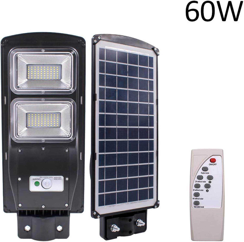 TianranRT 60W LED Solar Strae Licht PIR Bewegung Sensor Wand Timing Lampe+Fernbedienung (60W)