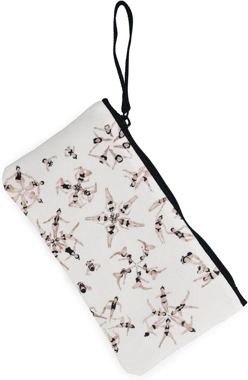 AORRUAM Girl swimsuit Canvas Coin Purse,Canvas Zipper Pencil Cases,Canvas Change Purse Pouch Mini Wallet Coin Bag