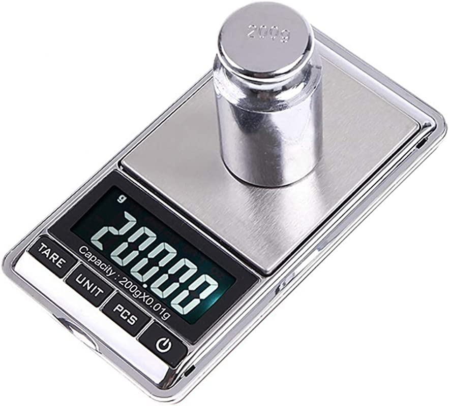 Yamalans 0 01g 0 1g Mini LCD Digital Pocket Scale Kitchen Precision Food Weighing Electronic Jewelry Gram Scale Silver 500g 0 1g