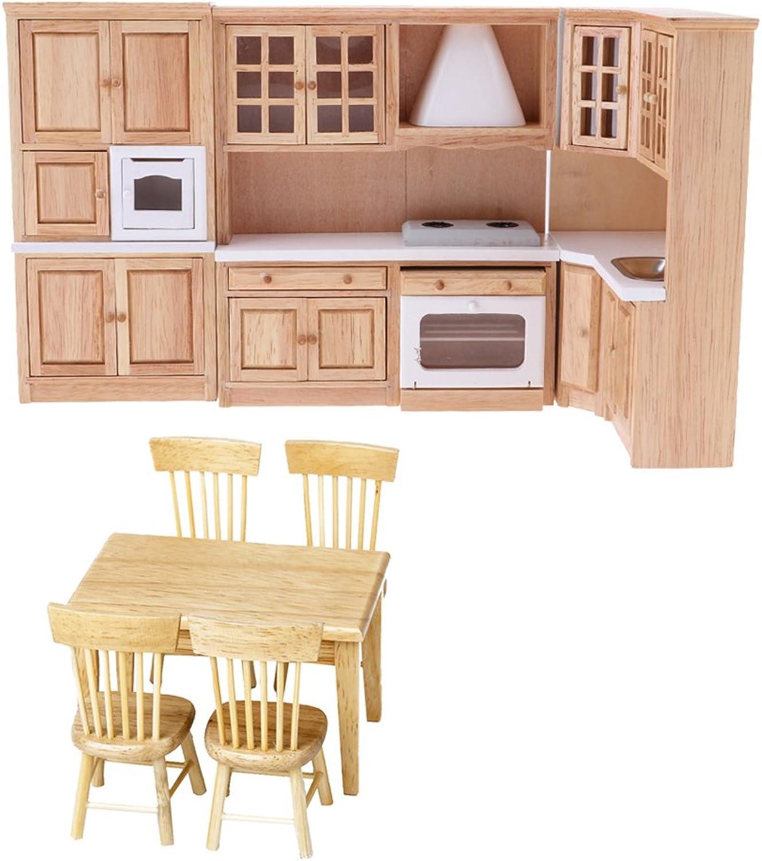 MagiDeal modellolo Sedia Da Tavolo Mobili Cucina modellolo Miniature Furniture Adatto per Casa Bambola