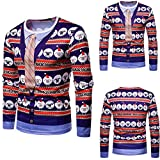 Pull Homme Noël Fantaisie Top Tricoté Col Rond Manches Longues Slim Fit Fashion Sweater Casual...