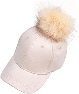 Creazydog Creazy New Women Raccoon Fur Ball Hip Hop Fashion Casual Baseball Cap