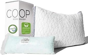 Coop Home Goods – Eden Adjustable Pillow – Hypoallergenic Shredded Memory..