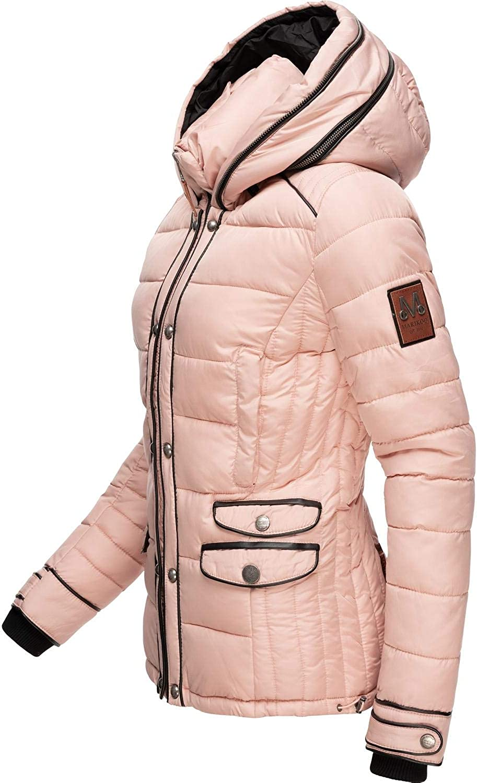 Marikoo Damen Winterjacke Steppjacke mit Kapuze Hasimausi 6 Farben XS-XXL Rosa