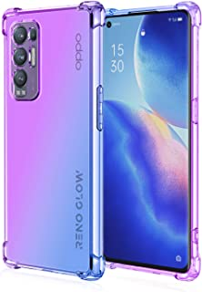 EasyLifeGo for Oppo Reno5 Pro+ 5G / Oppo Find X3 Neo Case Slim Shock Absorption Flexible TPU Soft Edge Bumper with Reinfor...
