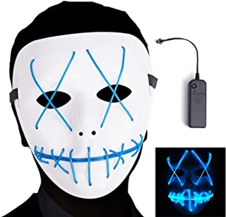 Novelty & Special Use Costumes & Accessories The Cheapest Price Dropshipping El Wire Mask Light Up Neon Skull Led Mask For Halloween Party Theme Cosplay Masks
