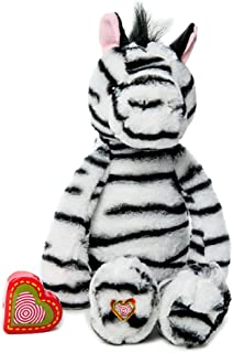My Baby's Heartbeat Bear - Vintage Stuffed Zebra with a 20 Second Voice/Sound Recorder Keeps Your Baby's Ultrasound Heartbeat Safe! - Vintage Zebra