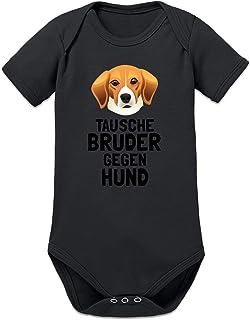 Shirtcity Tausche Bruder gegen Hund Baby Strampler by